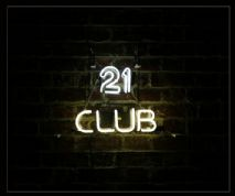 21 Club Neon Sign